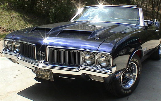 1970 Olds Cutlass Supreme 442 W-30 Convertible, photo: David Woodward
