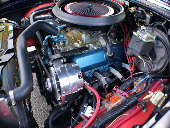 ignition timing and valve setting history of the automobile